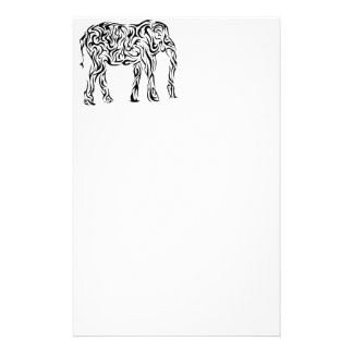 Black Tribal Elephant Stationery