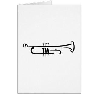 Black Trumpet Card