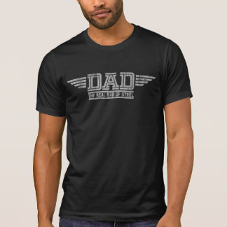 Black Tshirt for Dad. Short sleeve fitted tee.