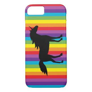 Black Unicorn and Rainbow iPhone 7 Case
