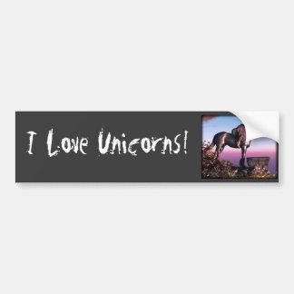 Black Unicorn Bumper Sticker