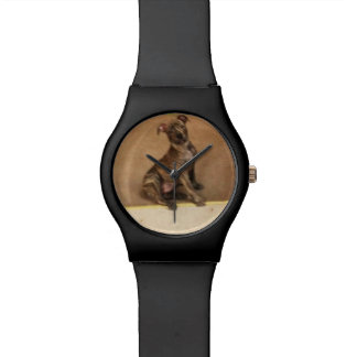 Black Universal watch for those Pit Bull Fans