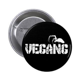 Black Vegang swipes in 6 Cm Round Badge