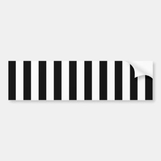 Black Vertical Stripes Bumper Sticker