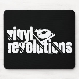 Black Vinyl Revolutions Mousepad