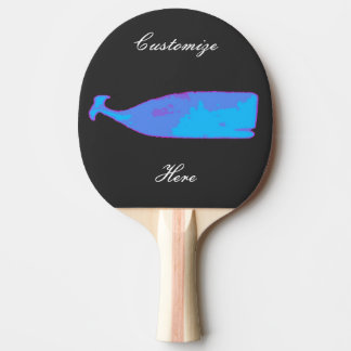 black whale blue Thunder_Cove Ping Pong Paddle