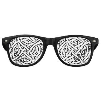 Black white abstract pattern retro sunglasses
