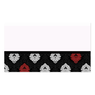 black white accent damask pack of standard business cards