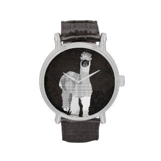 Black & White Alpaca Watch