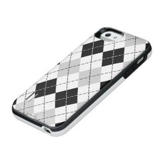 Black White and Gray Argyle iPhone SE/5/5s Battery Case
