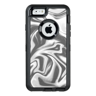 Black, White and Grey Marbled Otterbox Phone Case