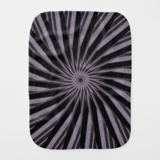 Black white and grey swirly template abstract art baby burp cloths