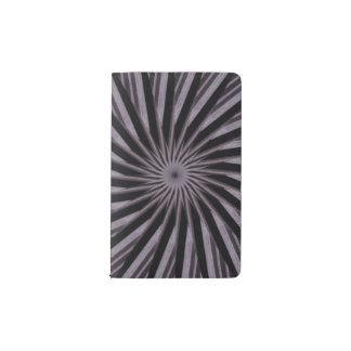 Black white and grey swirly template abstract art pocket moleskine notebook