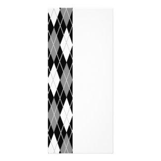 Black White Argyle Rack Card