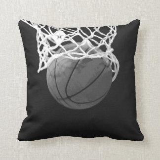 Black & White Basketball American MoJo Pillow Throw Cushion