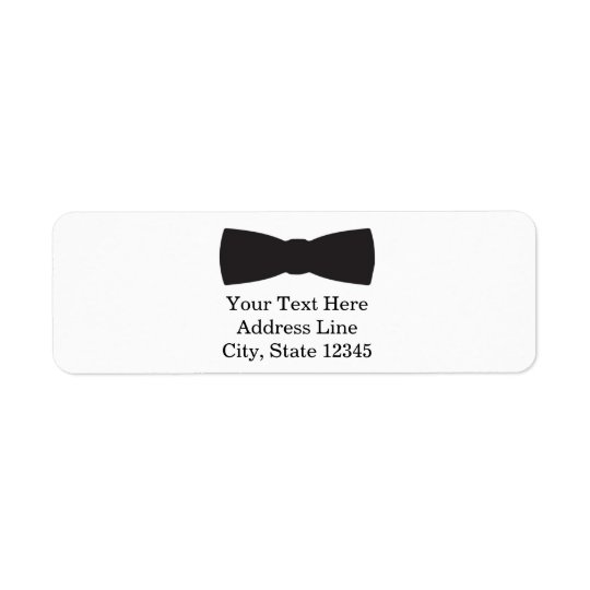 Black & White Bow Tie Tuxedo Boys Party Return Address Label