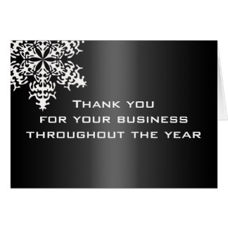 Black & White Business Thank You Note Card