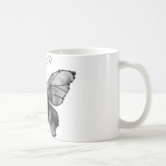 Black & White Butterfly Raven Coffee Mug