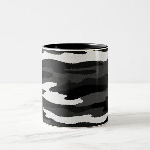 Black & White Camo Coffee Mugs