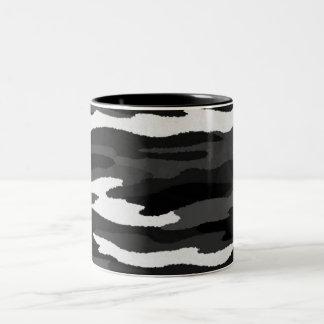 Black & White Camo Two-Tone Mug