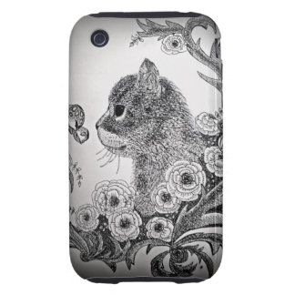 Black & White Cat iPhone 3G/3Gs Case iPhone 3 Tough Cover