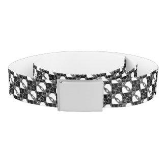 Black white Chain Link Gingham Custom Belt