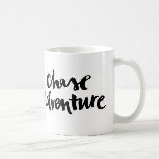 Black White Chase Adventure Quote Mug