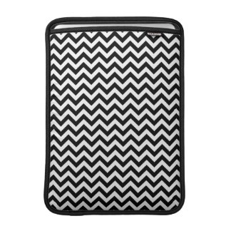 Black White Chevron Pattern MacBook Sleeve