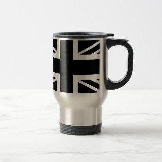 BLack & White Classic Union Jack British(UK) Flag Travel Mug