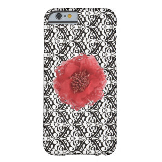 Black White Damask with Red Flower iPhone 6 Cases iPhone 6 Case