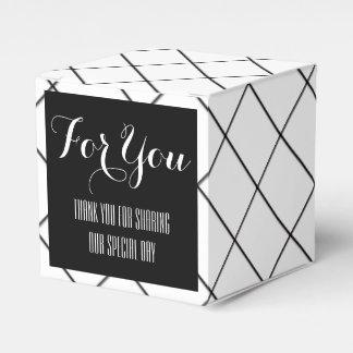 Black white diamond wedding favors favour box