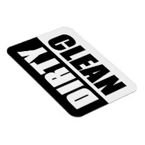 Black & White Dirty/Clean Vinyl Dishwasher Magnet