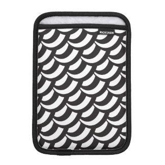 Black & White Geometric Pattern iPad Mini Sleeve