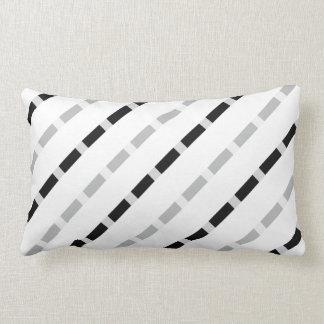 Black white gray dashed lines stripes stripe lumbar cushion