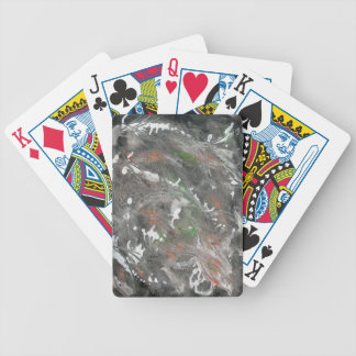 Black, White, Green Background Poker Deck