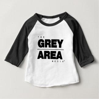 Black/ White Grey Area Apparel Baby T-Shirt