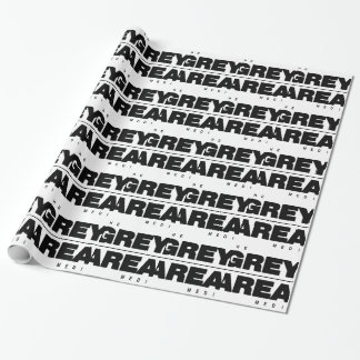 Black/ White Grey Area Apparel Wrapping Paper