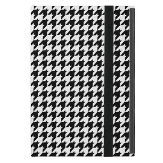 Black & White HoundsTooth Check Pattern iPad Mini Cover