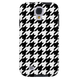 Black & White Houndstooth Galaxy S4 Case