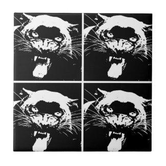 Black & White Jaguar Tile