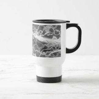 Black&White Lace 15 Oz Stainless Steel Travel Mug