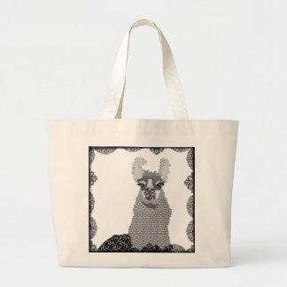 Black & White Llama Art Bag