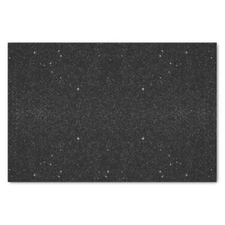 Black & White Majestic Starry Nebula Night Tissue Paper