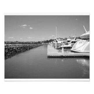 Black & White Marina Photo Art