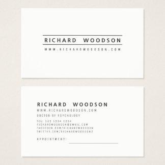 Black|White Minimalist Elegant Professional Modern Business Card