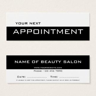 Black white minimalist modern Appointment Card