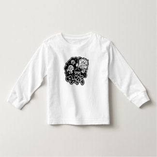 Black & White Mr. Messy Cleaning Toddler T-Shirt