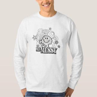 Black & White Mr. Messy | Stars & Swirls Tee Shirts