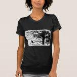 Black & White Nevermore Raven Silhouette Tree T-shirts