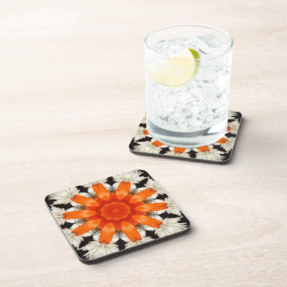 Black White & Orange Peel Coaster Set